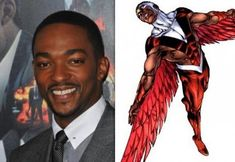 Falcon to have 'integral' role in new Captain America flick | The Voice Online; ONE OF the oldest fictional black superheroes will have a major role to play in the latest Captain America movie, according to the actor cast to play him. Sam Wilson, alias Falcon, was created by Marvel Comics in 1969 and Anthony Mackie has been selected to portray him in Captain America: The Winter Soldier.