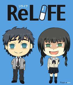 285. ReLIFE: Kaizaki Arata & Hishiro Chizuru Chibi Character Anime FANART