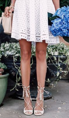 summer fashion white crochet dress