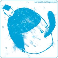 Juan Pez #threefivefifty #04 #sticker #3550 #design #ilustration #blue #street #art #barcelona