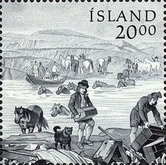 Stamp Day: motives typical for land: Herring