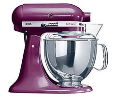 Kitchen Aid Artisan Food Mixer....would love to have one of these, and in purple would be fabulous!