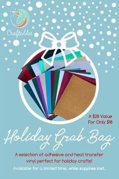 Whether it's vinyl, accessories, craft cutters, or inspiration, Craftables has it all! Shop with a company who provides quality service for fun crafting. Christmas Vinyl, Craft Cutter, Best Albums, Grab Bags, Adhesive Vinyl, Heat Transfer Vinyl, Holiday Crafts, Diy Gifts, Vinyl Decals