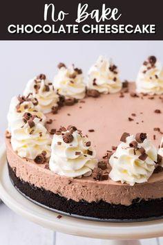 Dump Cake Recipes, Best Dessert Recipes, Cheesecake Recipes, Easy Desserts, Delicious Desserts, Dessert Ideas, Oreo Dirt Cake, No Bake Chocolate Cheesecake, Homemade Cakes