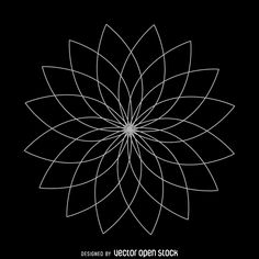 Sacred geometry design featuring a lotus flower. Made from lots of curves lines…