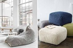 floor cushions love this idea sisustus pinterest wohnaccessoires strick und wohnen. Black Bedroom Furniture Sets. Home Design Ideas