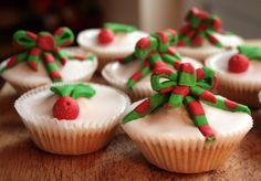 White Chocolate Christmas Fairy Cupcakes