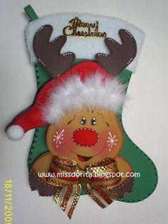 dulceros navideños en goma eva - Buscar con Google