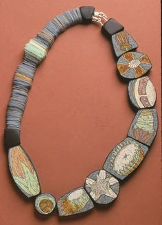Necklace by CYNTHIA TOOPS | Polymer Clay Planet