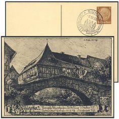 Germany, German Empire, 09.10.1938, Suhl/Thüposta 2, 3 Pfg.-GA-Privatpostkarte, ungebr., I (Mi.-Nr.PP122/C93) . Price Estimate (8/2016): 15 EUR. Unsold.