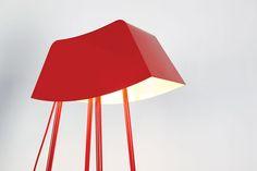 marco de masi shapes gestural monsieur floor lamp for officine tamborrino - designboom | architecture