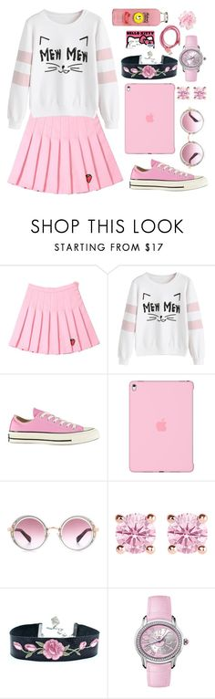 """Pink Lemonade"" by kbelle28 ❤ liked on Polyvore featuring Converse, Apple, Jimmy Choo, Thomas Sabo, Audemars Piguet and Hello Kitty"
