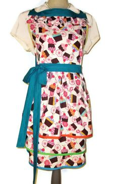 Cupcake Full Apron with Triple Skirt Adult by TheSapphireKey