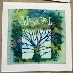 A Magic Ink Pad…. – Barbara Gray Blog Tree Stencil, Stencils, Waimea Falls, Barbara Gray Blog, Kitchen Paper Towel, Love Hug, Ink Pads, Pretty Cool, Paper Design