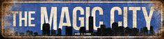 "The Magic City Blue // Miami, Florida // 5.5"" x 22"""
