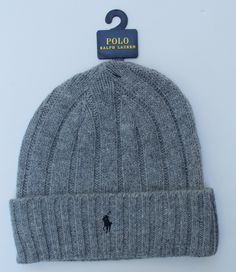 Polo Ralph Lauren Wool Cuffed Beanie - Light Gray Polo Beanie 9a1c6a10ffa3