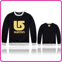 Free Shipping Online Stock Burton Brand Wholesale/Retail Man Hoodies Sweatshirt For Sale  $39.09