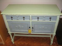 Image result for upcycled bed slats Bed Slats, Made Goods, Painted Furniture, Upcycle, Blue Green, Rest, Cabinet, The Originals, Storage