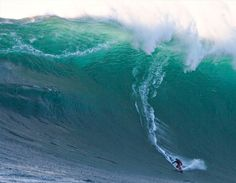 The awesome skill, capability and sheer guts of a surfer inside a 68 foot wave