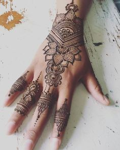 ae758d33ed Henna Tattoo - Have a look at the latest tattoo design ideas #handtattoo  #Hand