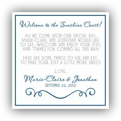 Wedding Hotel Gift Bag Poems : Wedding Hotel Welcome Bag Tags // Printable PDF // Personalized Bag ...