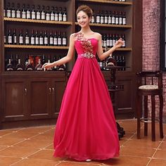 Cocktail Party/Homecoming/Prom/Holiday Dress A-line One Shoulder Floor-length Satin Dress – USD $ 79.99
