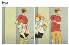 bye. >>> *tosses him to the garbage can with Oikawa*