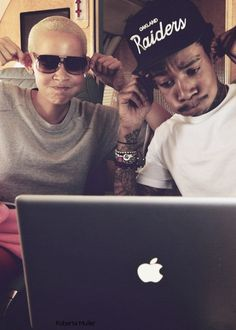 wiz khalifa and amber rose <3