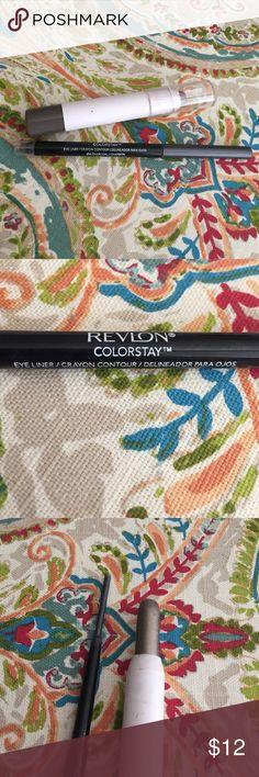 Eye Makeup Bundle 🎀 Revlon colorstay eye liner in charcoal/carbon, ELF eyeshadow stick in rock out. Used 2-3x each but still have plenty of product left. Make an offer 💕 ELF Makeup Eyeliner