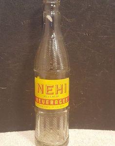 Vintage NEHI Soda Beverages Beaver Dam Ky 9 oz Duraglas Glass Bottle #NEHI