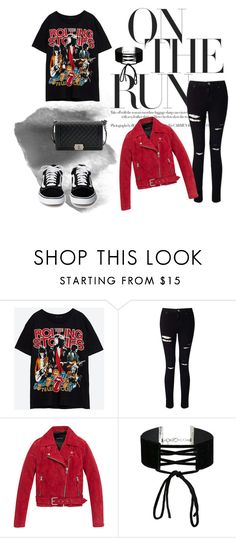 """""""Street style.  Casual outfit"""" by roisinvalentine ❤ liked on Polyvore featuring Miss Selfridge, Andrew Marc and Chanel"""