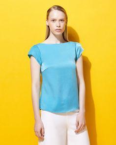 azureLennon Courtney at Dunnes Stores Cap Sleeve T-Shirt