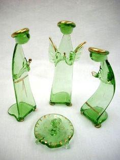 Glass nativity.