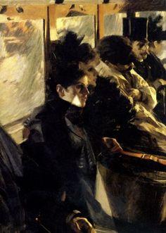 Anders Zorn. Omnibus.    Anders Zorn (1860-1920) Omnibus, 1891-92. Oil on canvas, 99.5 x 66 cm. Nationalmuseum, Stockholm