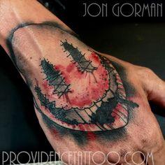 by jon gorman at providence tattoo  #jongorman #providencetattoo #handtattoo #scarecrow #tattoo