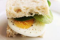 Amazing Gruyere, Fig Jam and Arugula Breakfast Sandwiches