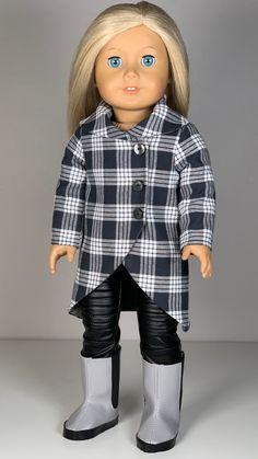 Custom American Girl Dolls, American Girl Diy, American Girl Clothes, Girl Doll Clothes, American Dolls, Coat Pattern Sewing, Doll Sewing Patterns, Doll Clothes Patterns, Clothing Patterns