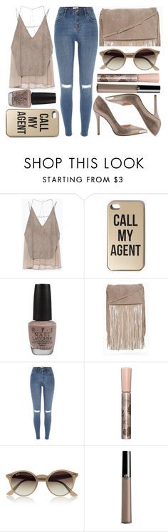 """""""street style"""" by sisaez ❤ liked on Polyvore featuring Zara, OPI, River Island, Paul & Joe, Ray-Ban, Giorgio Armani and GUESS"""