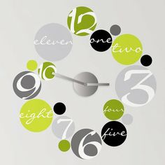 $20 Room Mates Peel & Stick Circle Clock Mechanism with Wall Decal