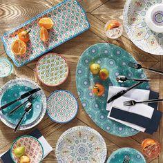 Kavala Dinnerware and Serveware - Serveware - Ideas of Serveware - Kavala Dinnerware and Serveware Appetizer Plates, Dinner Plates, Dinner Table, Teapots Unique, Blue Dinnerware, Luxury Home Decor, Serveware, Tableware, Serving Platters