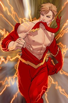 The Flash is the fastest man on Earth, but who cares?   Turns Out Superheroes Make Seriously Sexy Pin-Ups