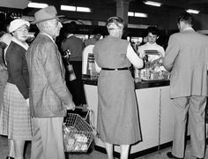 Checkouts at Newcastle Store 1958