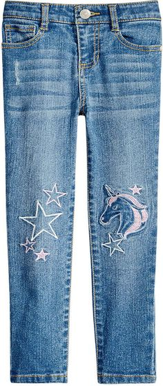 b36ed994c1e9 Epic Threads Toddler Girls Embroidered Unicorn Jeans