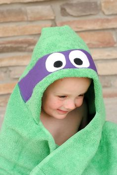 Make this Ninja Turtle Hooded Towel for kids with this free pattern and tutorial.