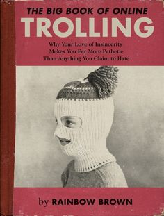 What if irritating online behaviors were made into old school book covers?