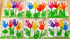 Maestra Caterina: Primavera: Fiori con le mani Spring Crafts For Kids, Easy Crafts For Kids, Kids Crafts, Art For Kids, Diy And Crafts, Arts And Crafts, Daycare Crafts, Easter Crafts, Preschool Activities