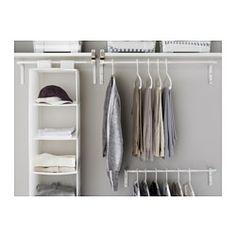 IKEA - MULIG, Barra para ropa, Se puede colocar en cualquier parte de la casa, incluso en zonas húmedas como el baño o en un balcón cubierto.Puedes regular la anchura para adaptarlo a tus necesidades.
