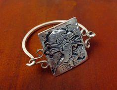 Geisha tendre Style Bracelet en argent Sterling par hioctanejewelry