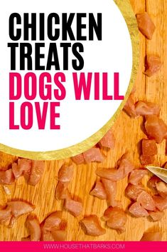 Chicken treats that your dogs will love. Homade Dog Treats, Soft Dog Treats, Frozen Dog Treats, Pumpkin Dog Treats, Diy Dog Treats, Homemade Dog Food, Healthy Dog Treats, Easy Dog Treat Recipes, Dog Food Recipes