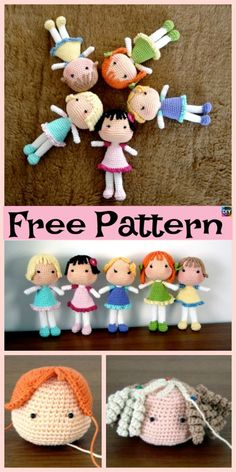 Adorable Crochet Amigurumi Doll – Free Pattern #freecrochetpattern #doll #giftidea